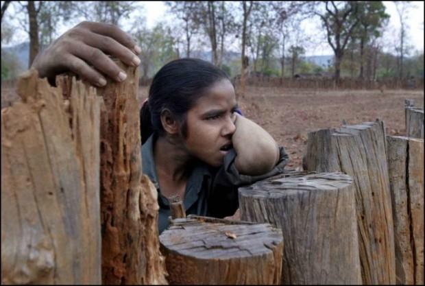 Stamfolk i Indien har rest sig