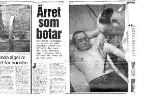 Aftonbladets söndagsbilaga 1986.
