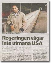 Min artikel om Ahmed Yusuf i Dagens Nyheter 2005.