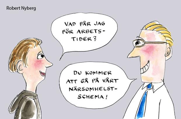 Robert Nyberg Arbetstider